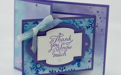 Thank You Blog Hop  – Snowflake Wishes Fun Fold Card
