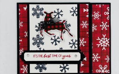 Peaceful Deer Gift Card Holder with the FREE Peaceful Prints Designer Paper from Stampin' Up!