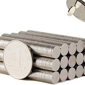 100PCS 8×1MM Small Cylinder Fridge Magnets