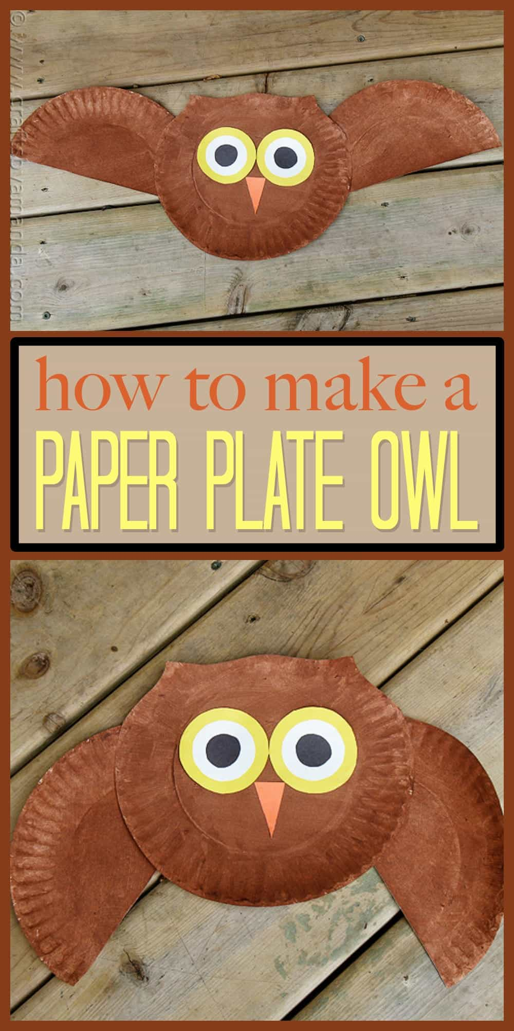 Paper Plate Owl Craft Make A Cute Owl From A Paper Plate