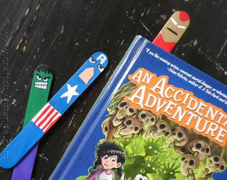 Avengers Bookmarks Craft for Kids