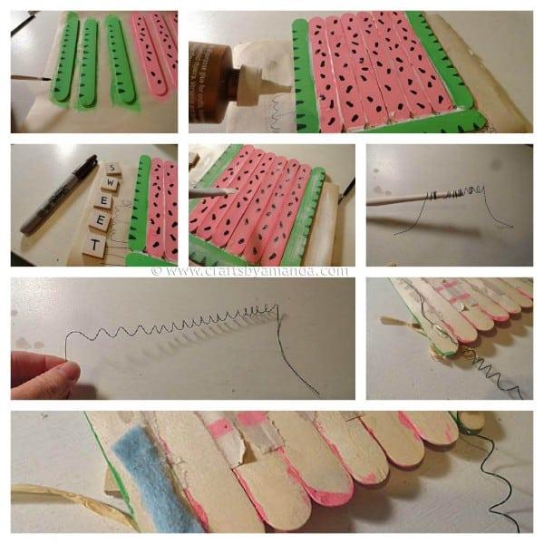 Craft Stick Watermelon