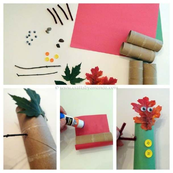 Fall Leaf Finger Puppets - CraftsbyAmanda.com