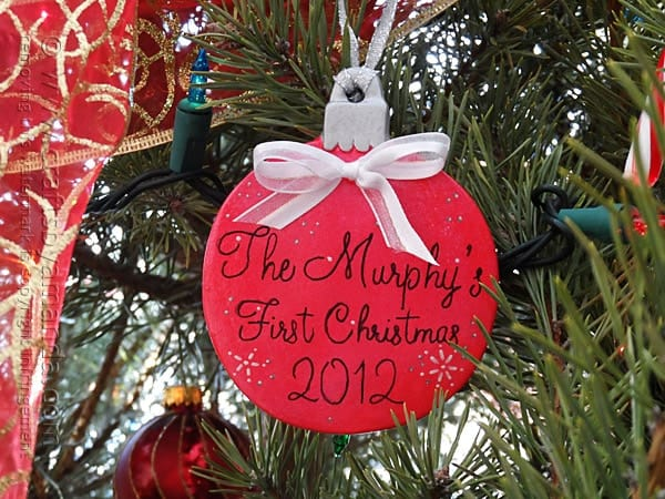 personalized first christmas together ornament