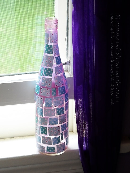 mosaic wine bottle craft
