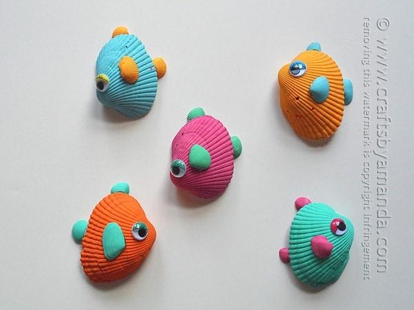 tropical seashell fish craft