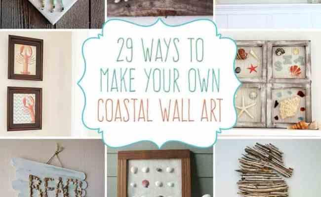 29 Beach Crafts Coastal Diy Wall Art Crafts By Amanda