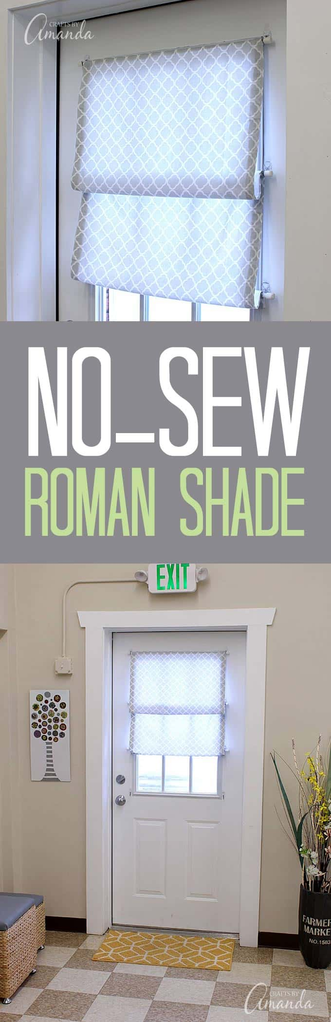 No Sew Roman Shade For Those Who Don't Sew