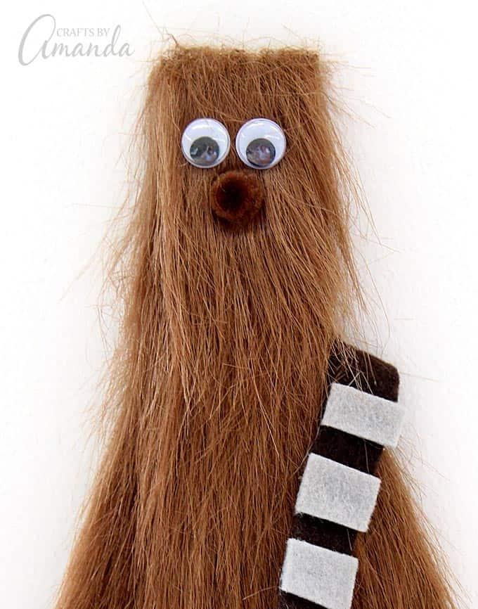 Chewbacca Craft Star Wars from a Paint Stir Stick