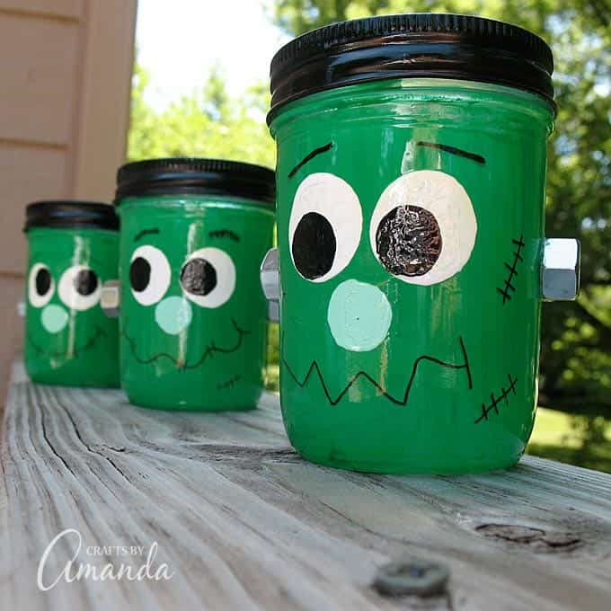 Frankenstein Luminaries, by Crafts by Amanda