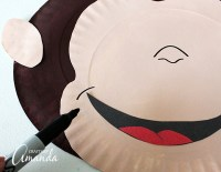 Curious George Paper Plate Mask - Crafts by Amanda