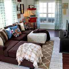 How To Decorate A Long Living Room Rustic Contemporary Designs Movie Theater Family Makeover