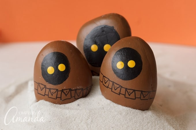 Star Wars Jawa Rocks by Crafts by Amanda