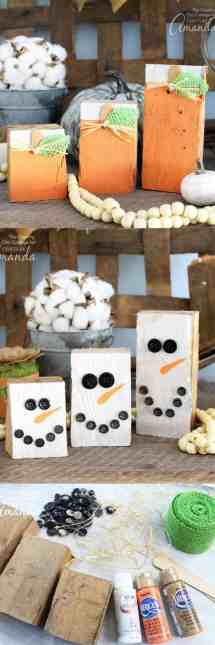Reversible Scrap Wood Pumpkins Easy Diy Project