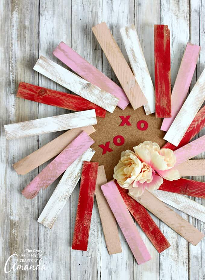 wood shim wreath