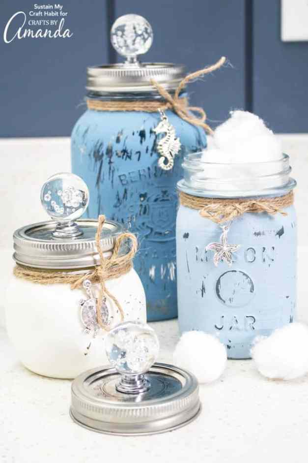 Mason Jar Canister Set | mason jar crafts