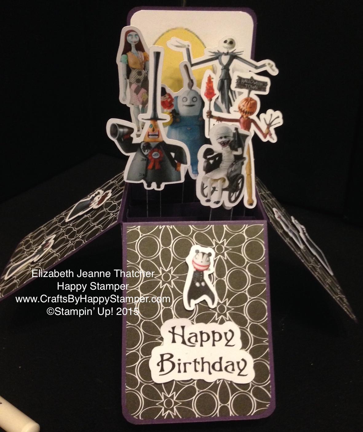 Amazing Nightmare Before Christmas Birthday Card In A Box Crafts Funny Birthday Cards Online Ioscodamsfinfo