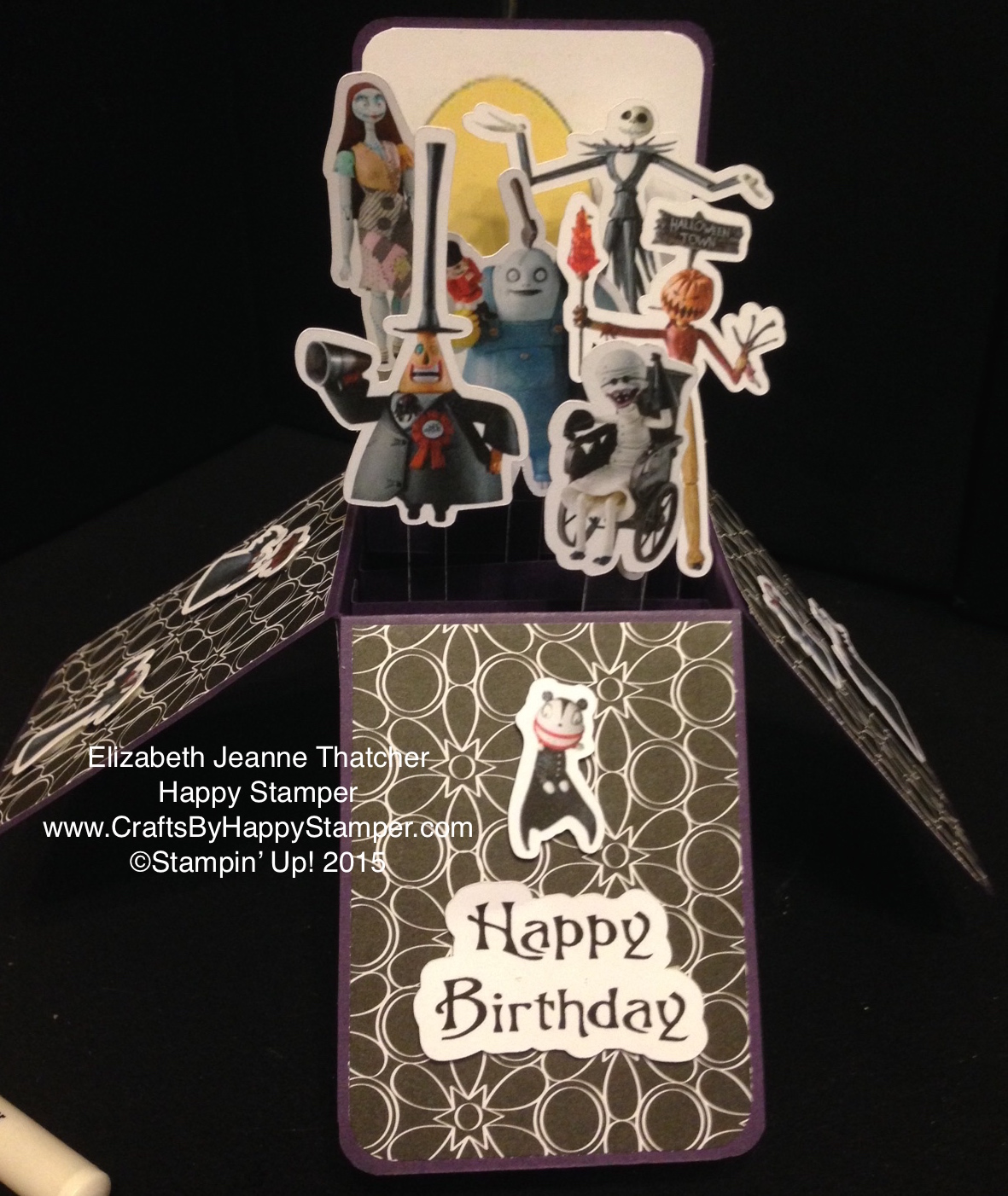 Nightmare Before Christmas Birthday Card in a Box   Crafts By Happy ...