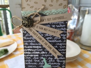 Stamping Up, Antique Brads, Wine Tag, Sprinkles of Life