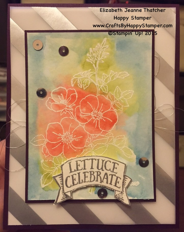 Stampin Up, Watercolor, Market Fresh, Sweetbriar Rose