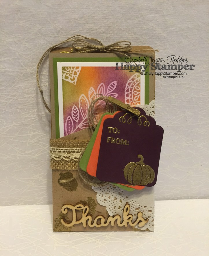 Lighthearted Leaves, Paper Pumpkin, Stampin Up, Labels & Tags