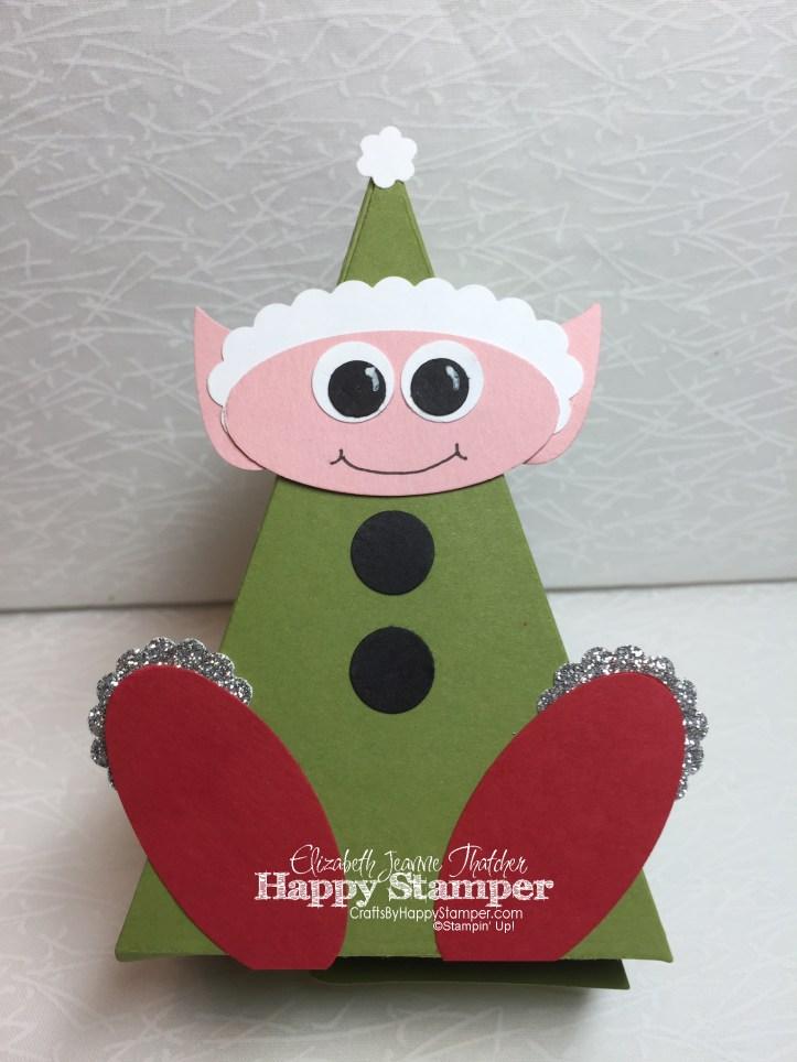 elf, cutie pie thinlits, stampin up, bird builder punch, tree builder punch