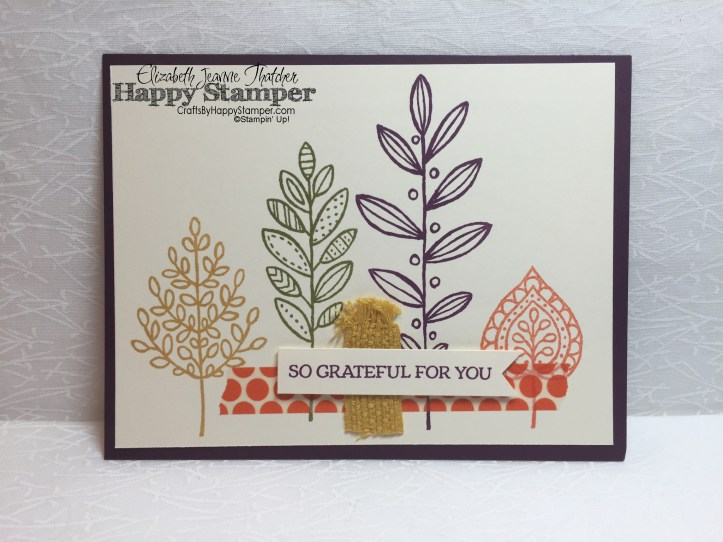 stampin up, lighthearted leaves