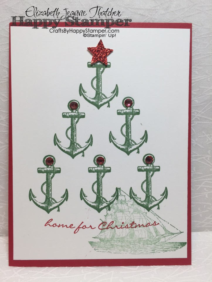 Stampin Up, The Open Sea, Jingle All The Way, Nautical, Christmas