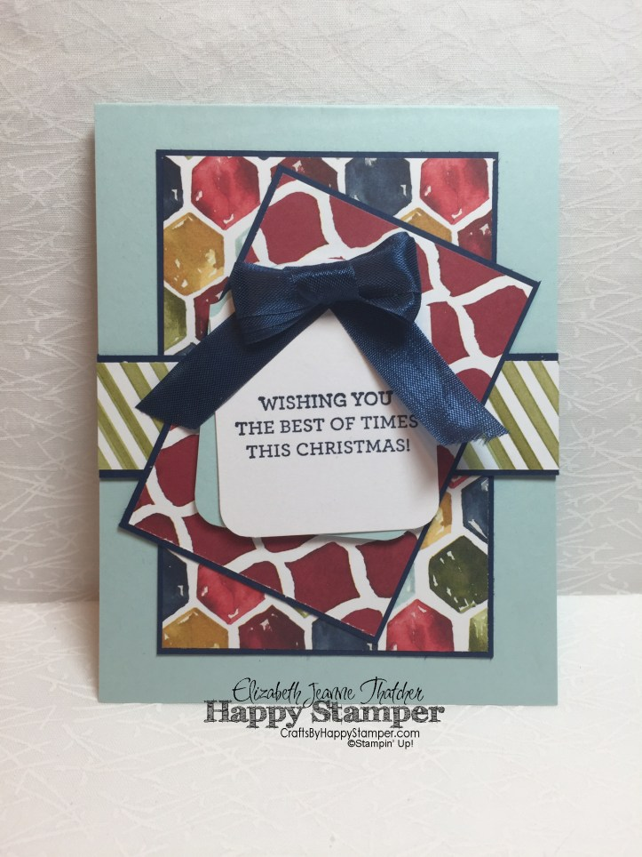 versatile christmas, season of cheer, ornamental tag, stampin up