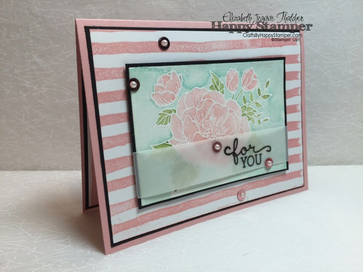 Stampin Up, Birthday Blooms, Brushstrokes, CYCI Can You Case It