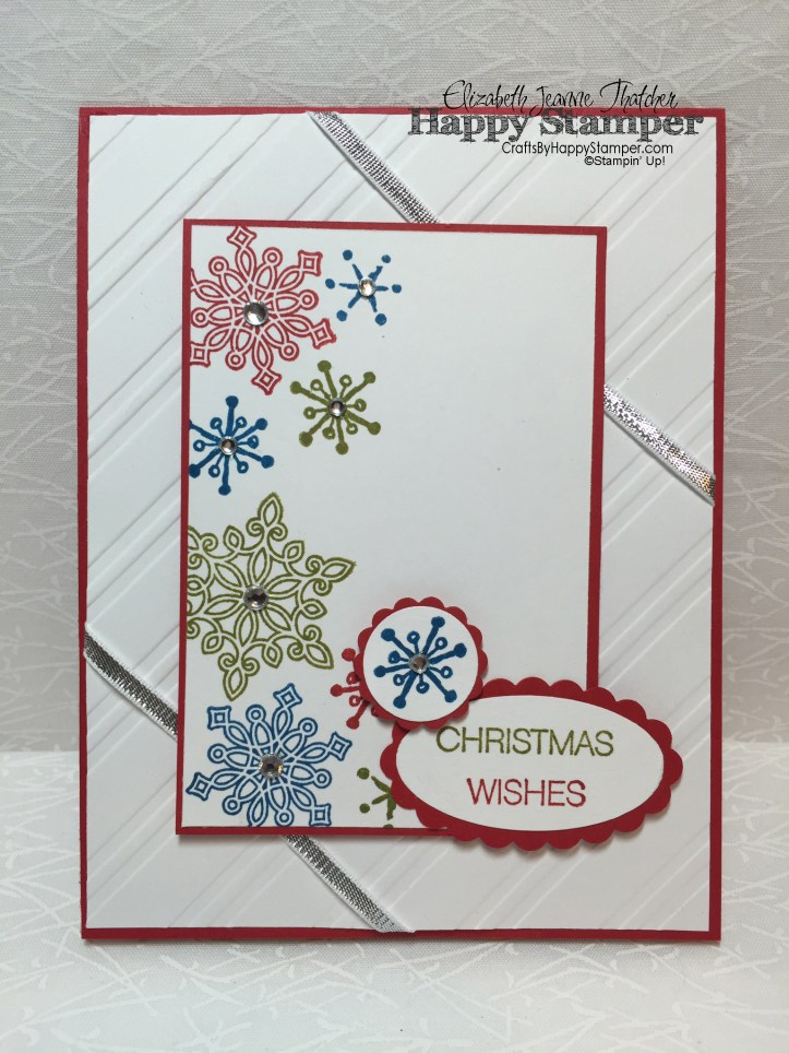 Stampin Up, Flurry of Wishes, Snow Place, Holly Jolly Greetings, cynic