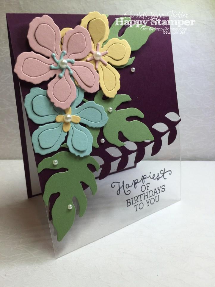 Stampin Up, Birthday Blooms, Botanical Builder Framelits