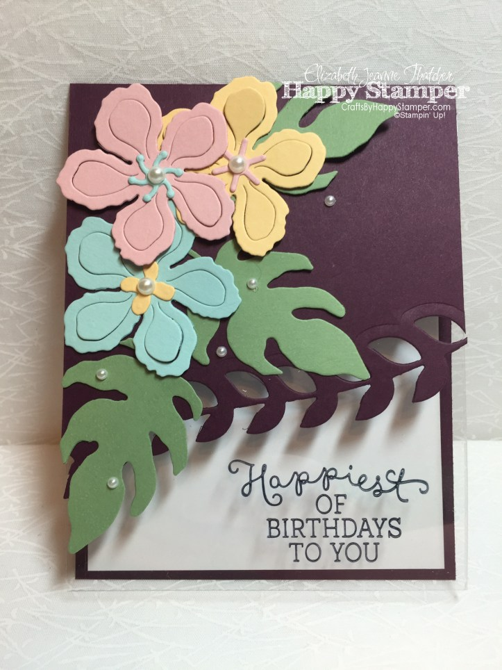 Stampin Up, Birthday Blooms, Botanical Builder Framelits