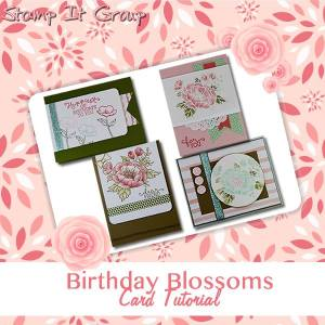 birthday blooms card tutorial