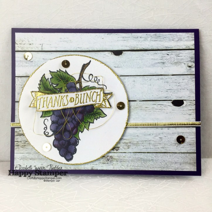 Stampin Up, Market Fresh, Thanks A Bunch, Farmers Market