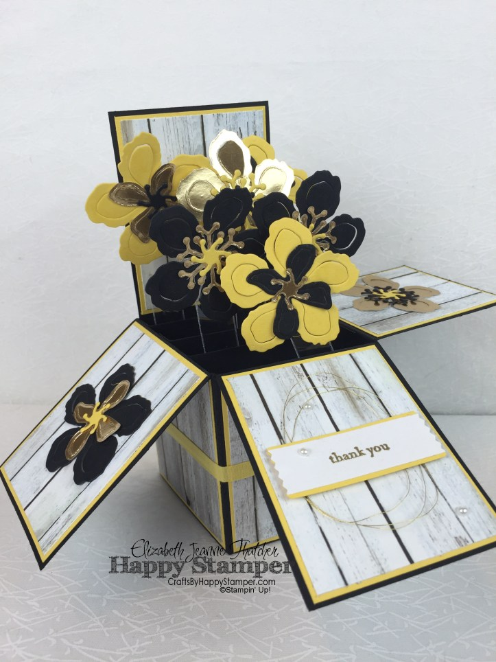 Stampin Up, botanical blooms, card in a box, 3d, interactive, thank you, rose wonder, teeny tiny wishes, blog hop