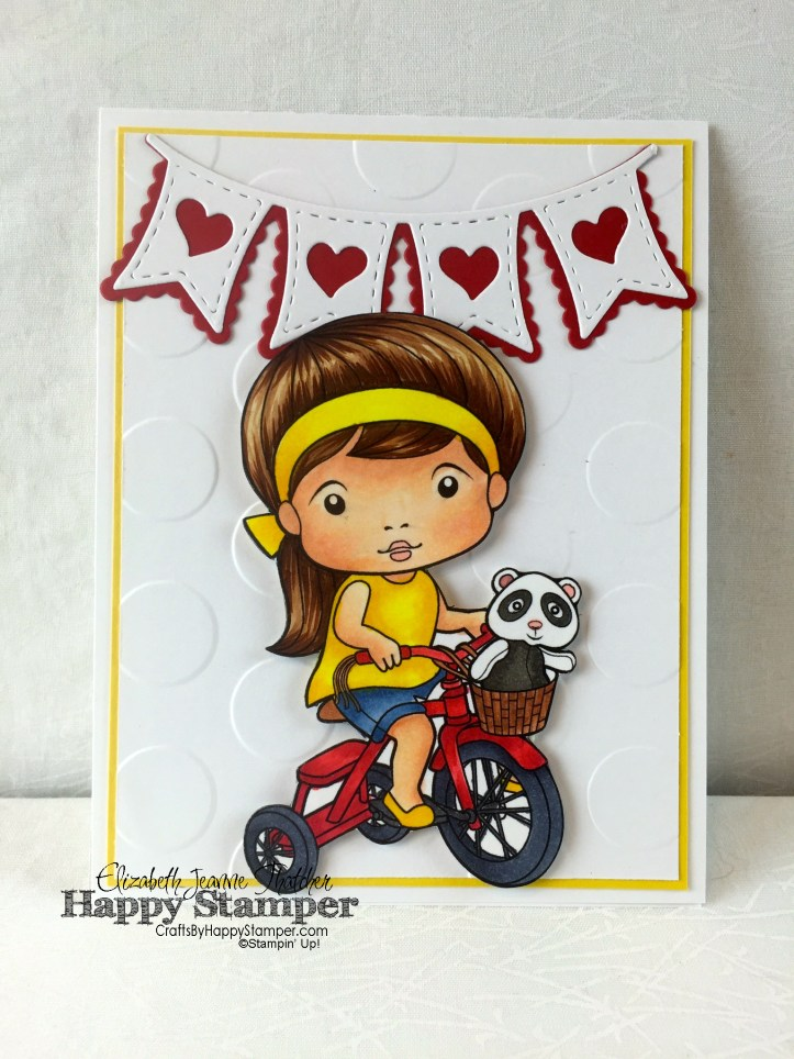 Stampin Up, La La Land, Tricycle Marci, Decorative Dots, 30 Day Color Challenge