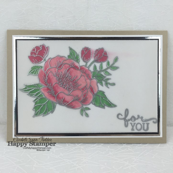 Stampin Up, Birthday Blooms, Stained Glass