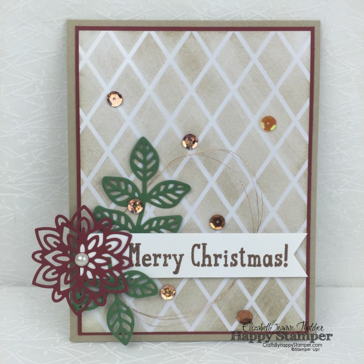 Stampin Up, SIP#56, Christmas, Snow Place, Flourishing Phrases, Flourish Thinlits, Irresistibly Floral