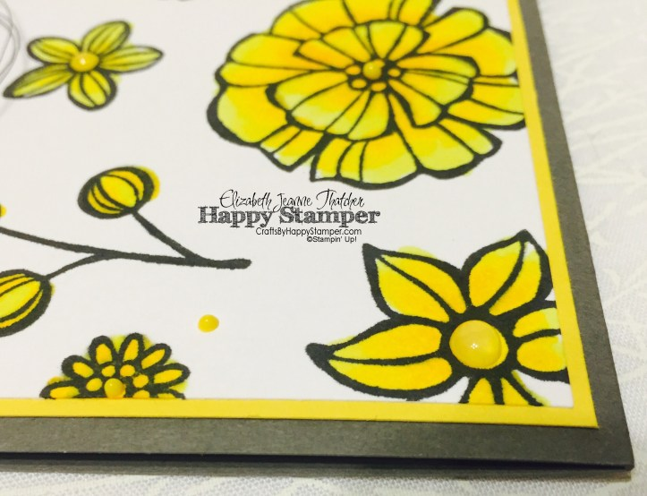 Stampin Up, Falling Flowers, Sunshine Sayings , Sunshine Wishes, copics, CYCI, diy, crafts