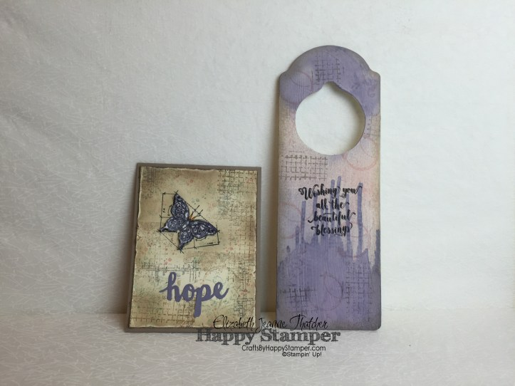 Stampin Up, Timeless Textures, Sunshine Wishes, In This World, Vintage, Hope, crafts, diy, door hanger, suite sayings