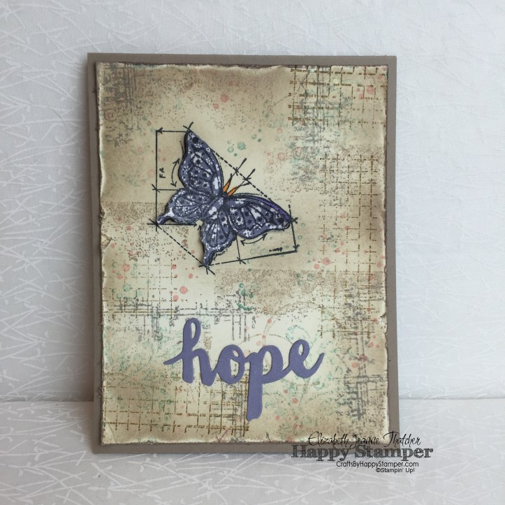 Stampin Up, Timeless Textures, Sunshine Wishes, In This World, Vintage, Hope, crafts, diy
