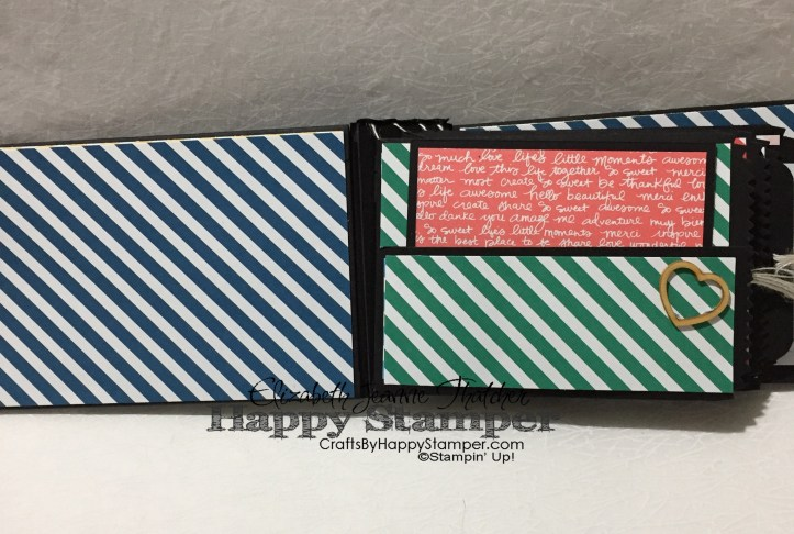Stampin Up, album, diy, mini treat bags, flourishing phrases