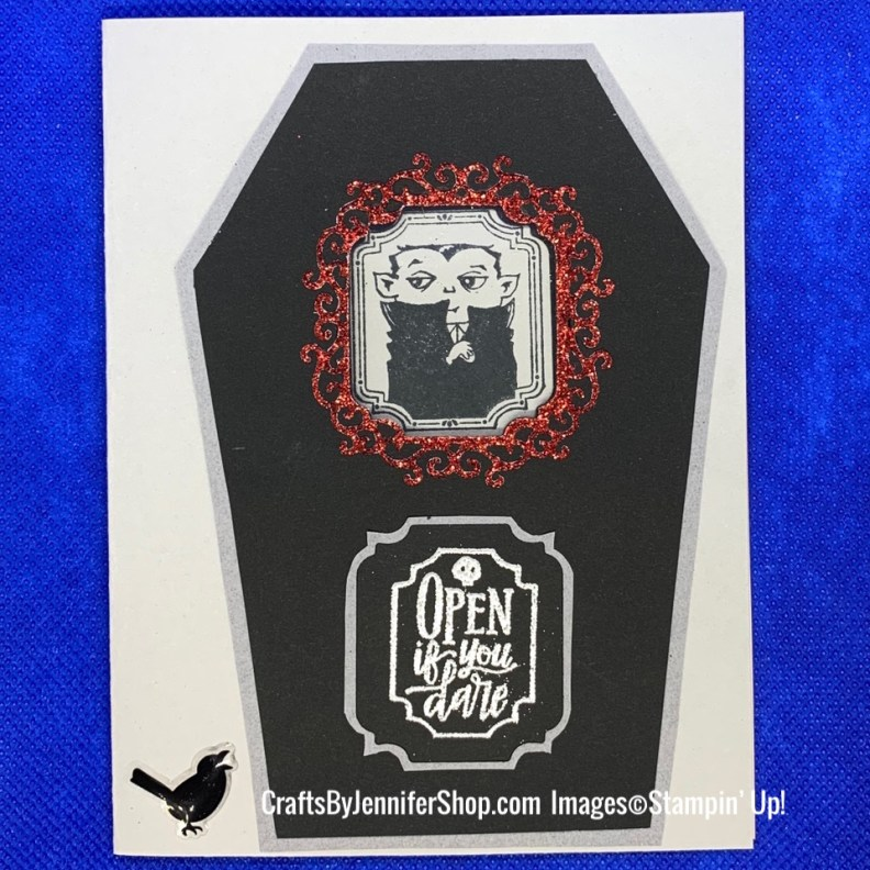 vampire coffin halloween card, halloween, holiday, monster bash