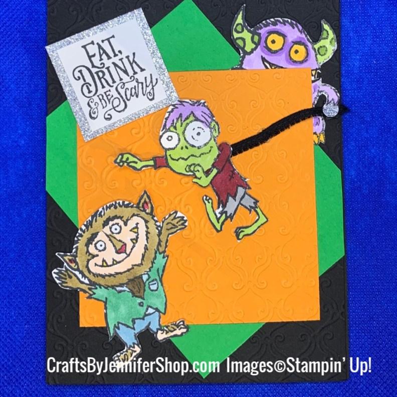 monster puppet halloween card