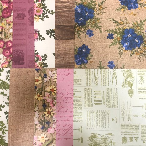 pressed petals sampler, pressed petals, petals, photo of flowers, newspaper, paper, stampin up