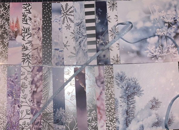feels like frost, silver foil, outdoor, photographs, hand-drawn, metallic, winter, holiday