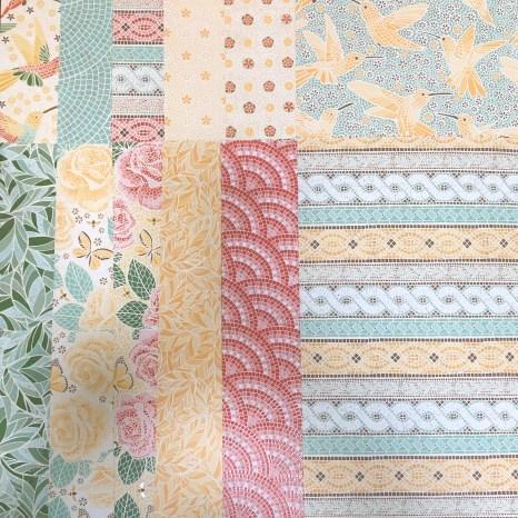 mood mosaic sampler, mosaic, stampin up, paper, accent