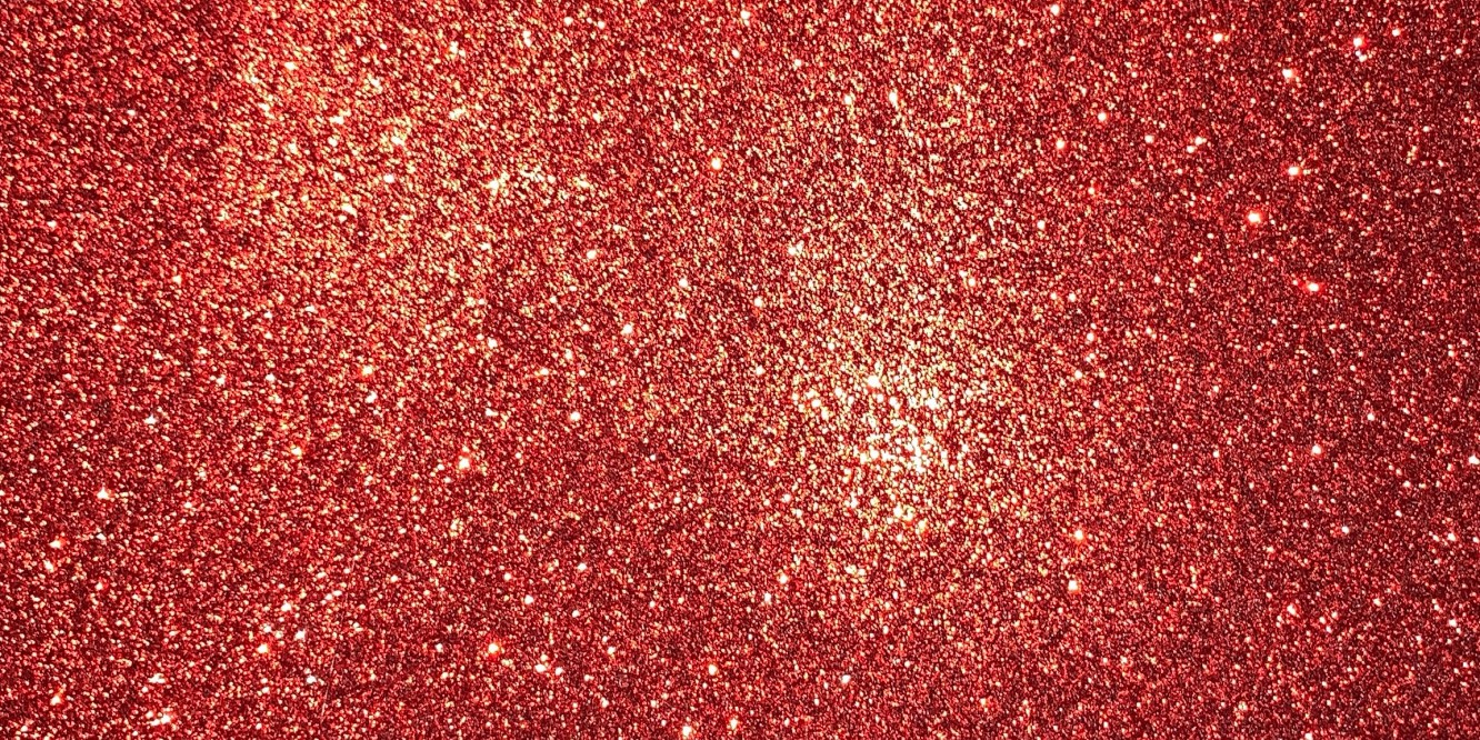 red glimmer, red glitter, real red, paper
