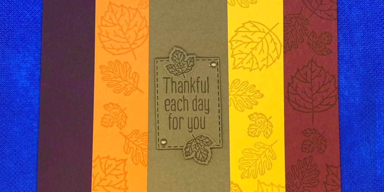 fall, thanksgiving, thankful, handmade card